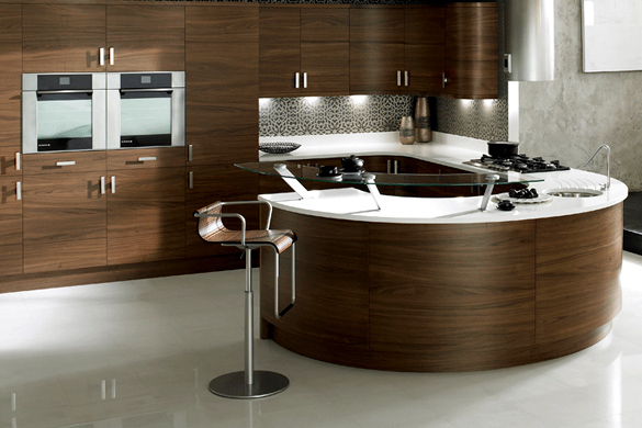 Kitchens doncaster waterside kitchens and bathrooms for Curved kitchen units uk